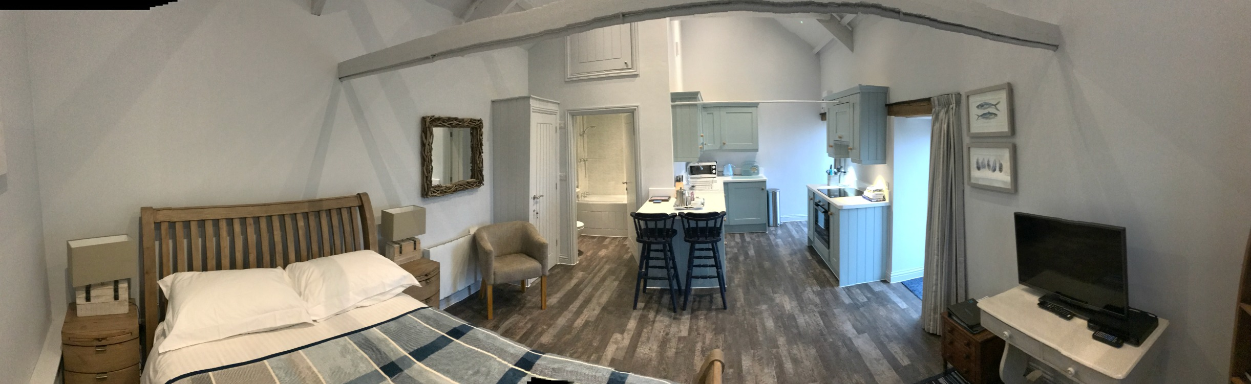 Woofenden barn conversion interior wide