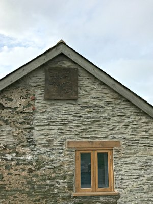 Mortehoe Barn Exterior Wooden Plaque