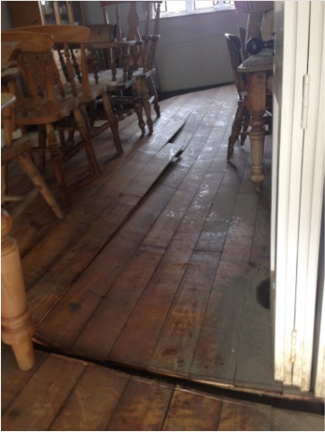 The Byre flooded joinery